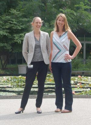 Dr. Erica Scheller (left) and Dr. Clarissa Craft (right)